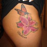 Butterfly-And-Lily-Tattoos