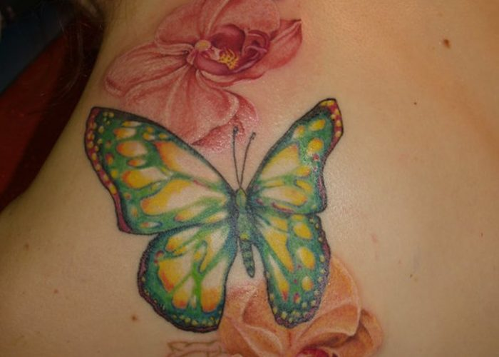 Flower-With-Butterfly-Designs-tattoo