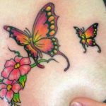 Flowers-And-Butterfly-Tattoos