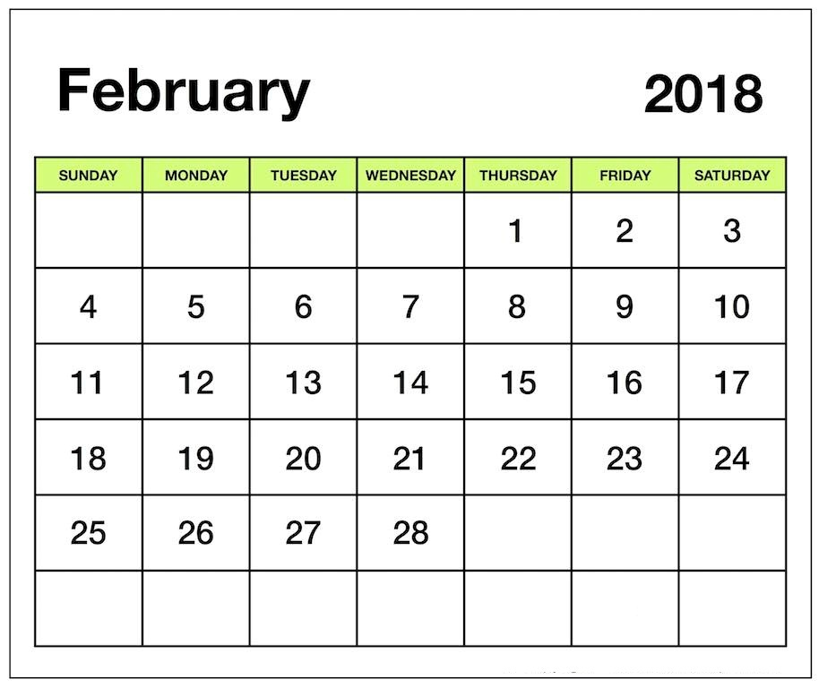 February  Printable Calendar Pdf Free Pictures On Greepx