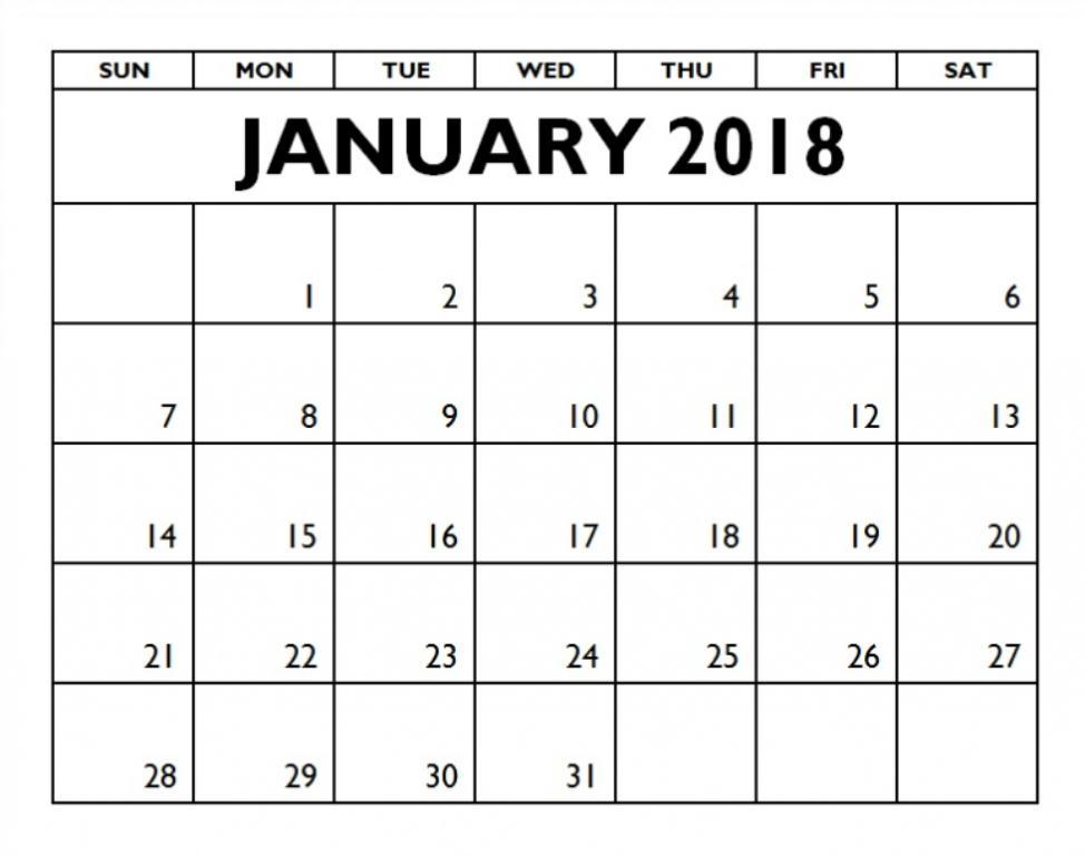 january 2018 calendar and motivational thought inkhappi