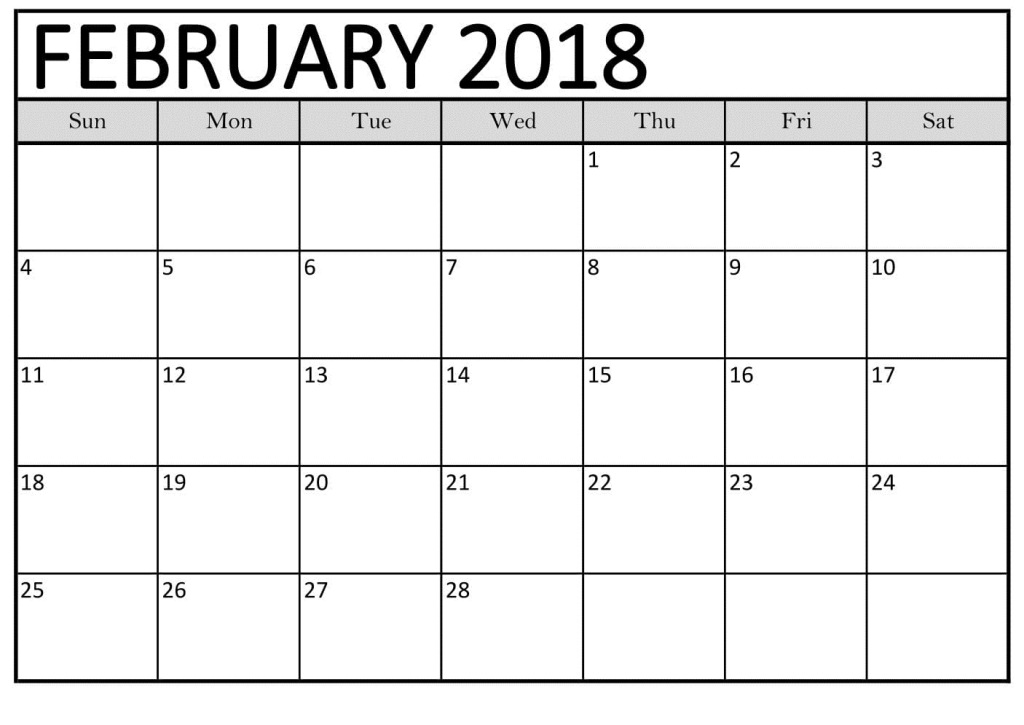february 2018 calendar template free download free pictures on greepx. Black Bedroom Furniture Sets. Home Design Ideas
