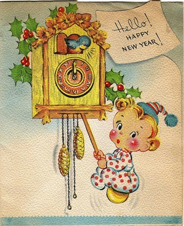 Vintage Happy New Year Cards