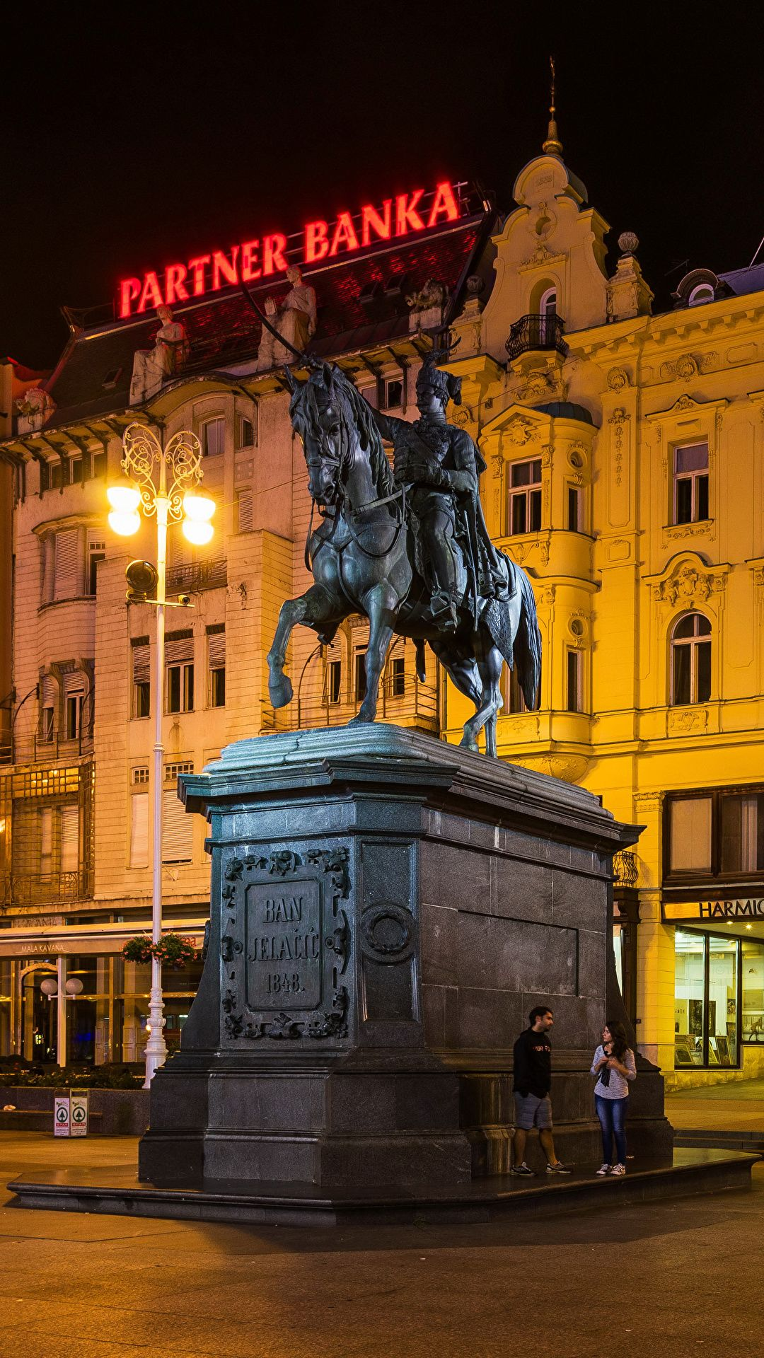 Pictures City of Zagreb Croatia Monuments Street lights 1080x1920