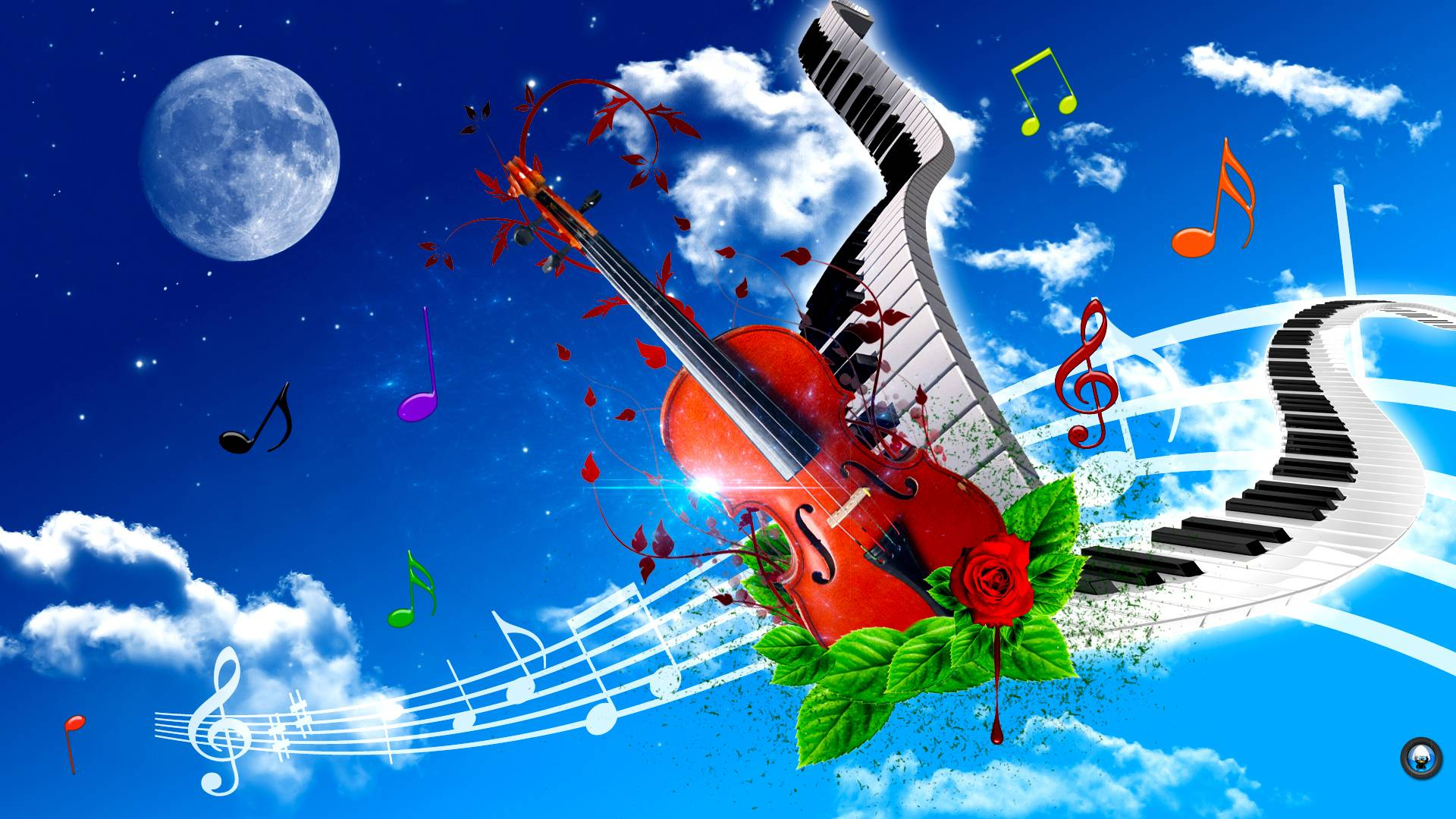 Violin And Piano Art Tone Wallpaper HD #6468 Wallpaper | Wallpaper ...