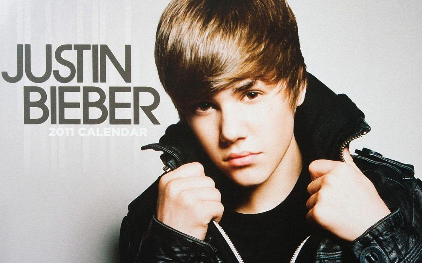 1440x900 Justin Bieber 2011 Calendar desktop PC and Mac wallpaper