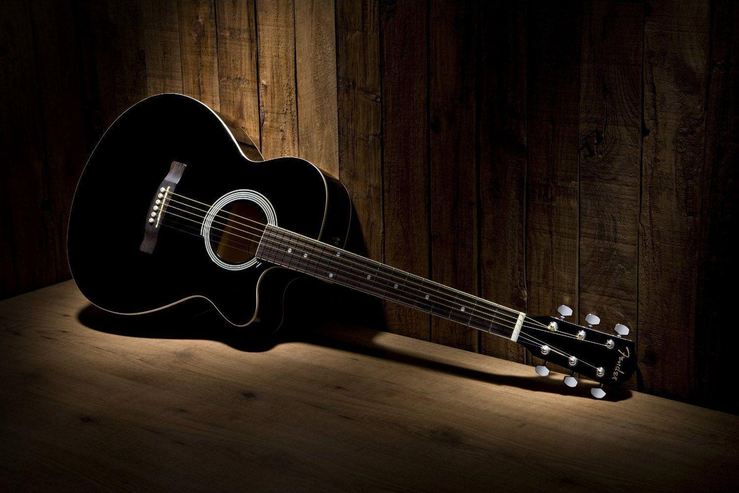Download Black Acoustic Guitar Wallpaper | Full HD Wallpapers