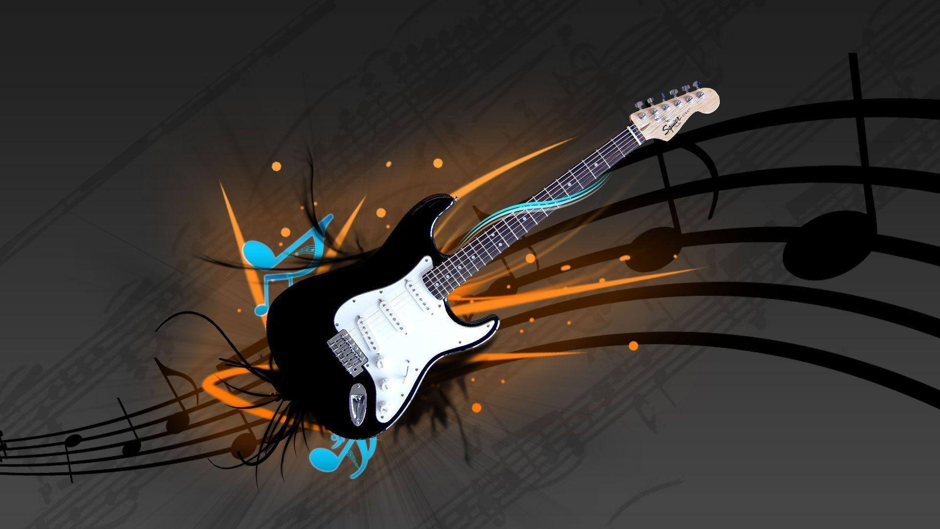 3d wallpaper hd guitar - WallpapersAK