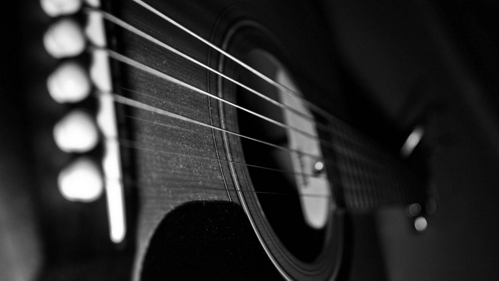 Wallpapers For > Black Acoustic Guitar Wallpaper Hd