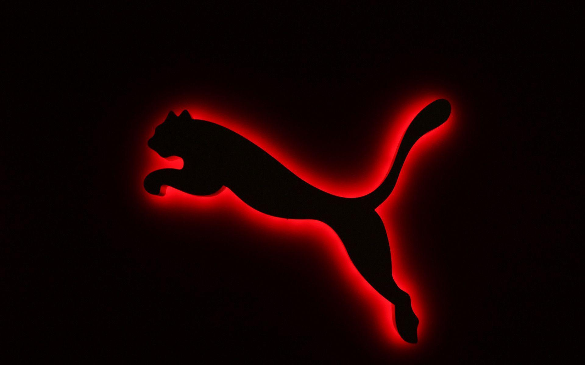 Puma Logo Black and Red Wallpaper | HD Wallpaper and Download Free ...