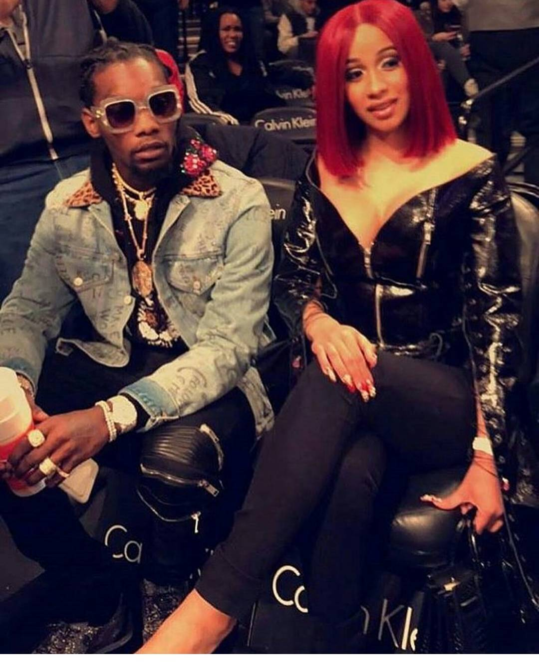 Like the look?! Migos' #Offset spotted at the Nets Game with ...