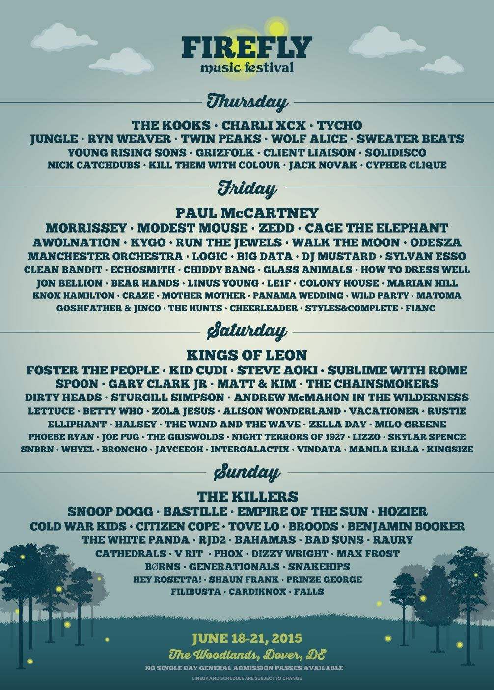 Firefly Festival Attendees Plan Their Days With Specialized ...