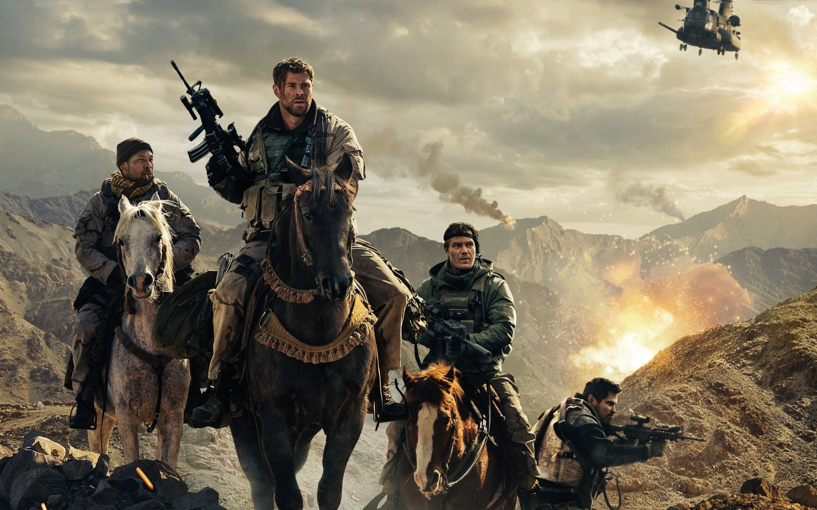 Wallpaper 12 Strong, Michael Pena, Michael Shannon, Chris ...