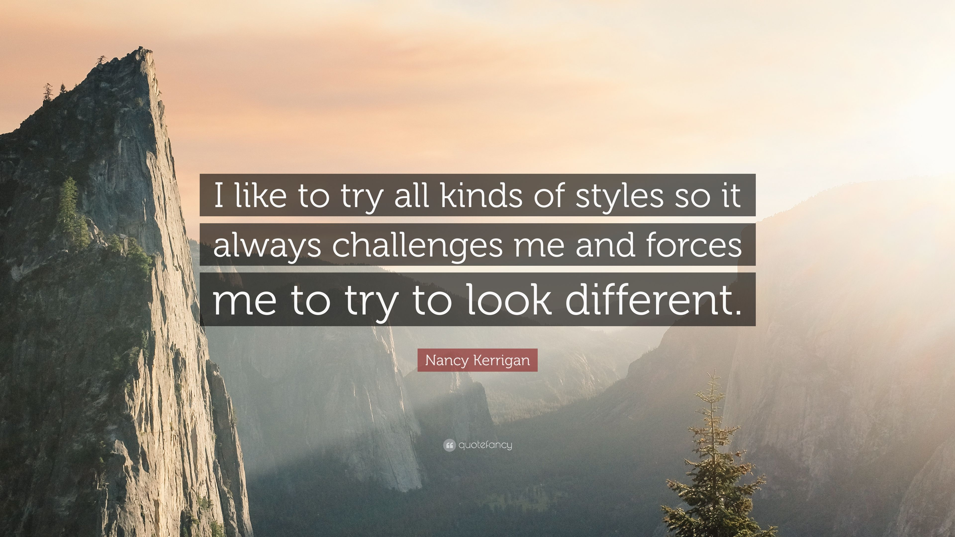 """Nancy Kerrigan Quote: """"I like to try all kinds of styles so it ..."""