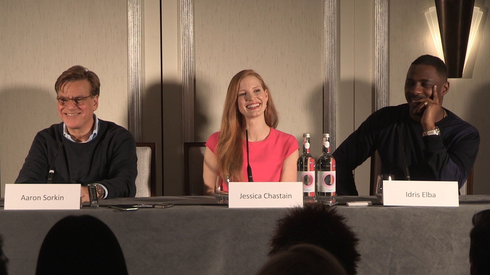 Molly's Game Press Conference with Aaron Sorkin, Jessica Chastain ...