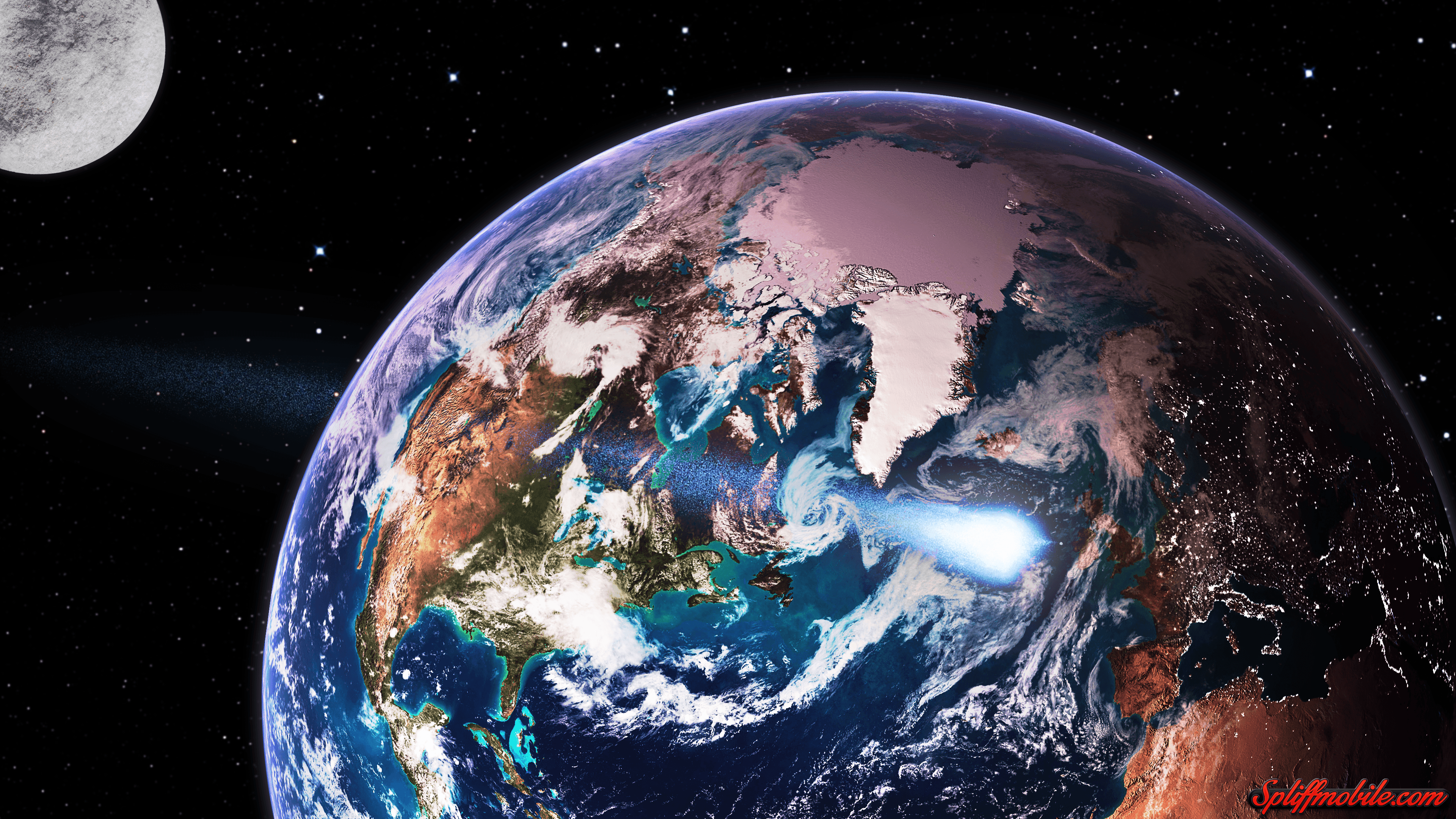 HD Earth From Space Wallpaper