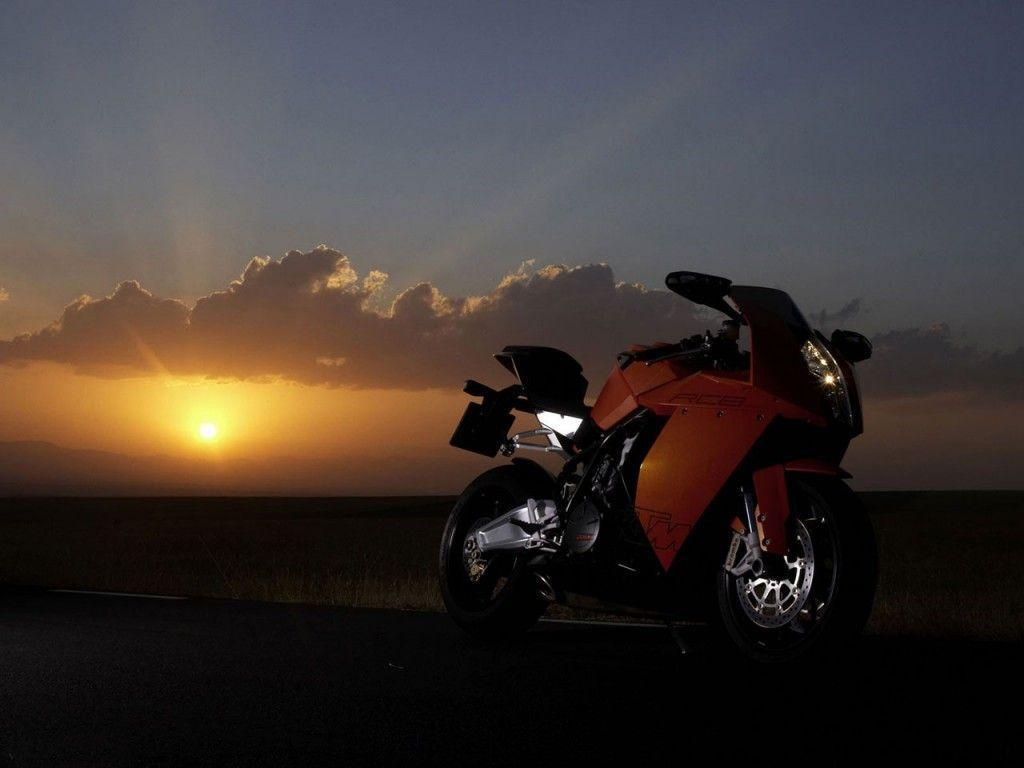 Beautiful Sunset Heavy Bike Wallpaper | Free Wallpapers