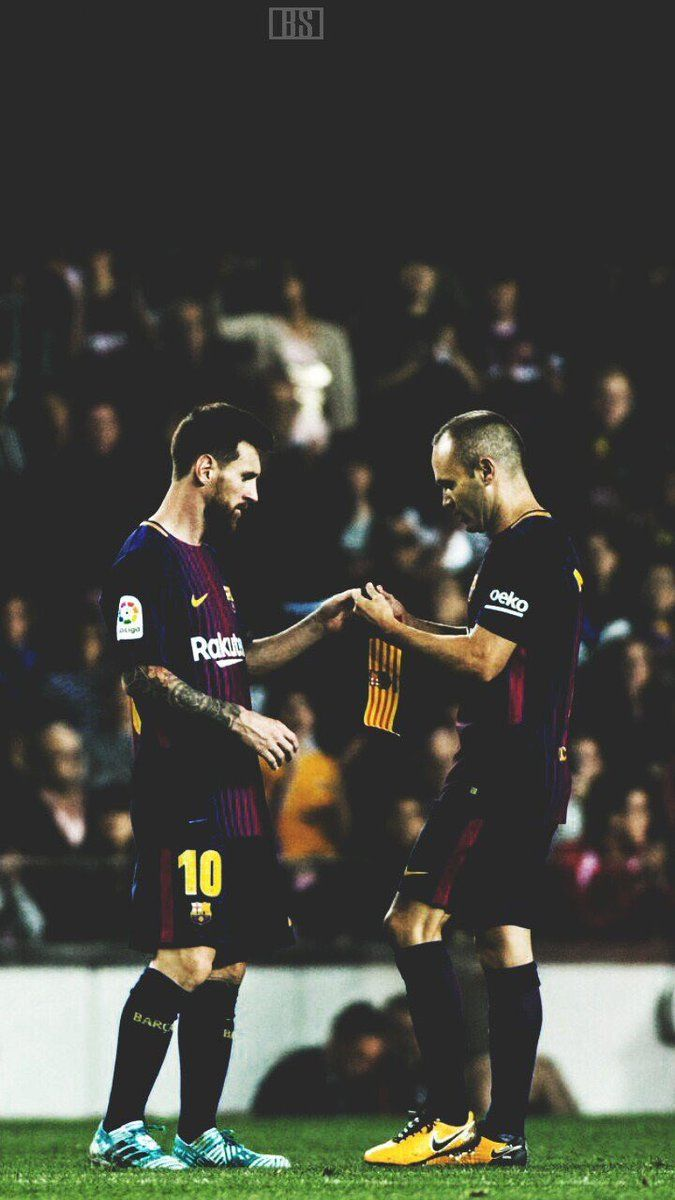 mesqueunclub.gr: Wallpaper | Messi and Iniesta.