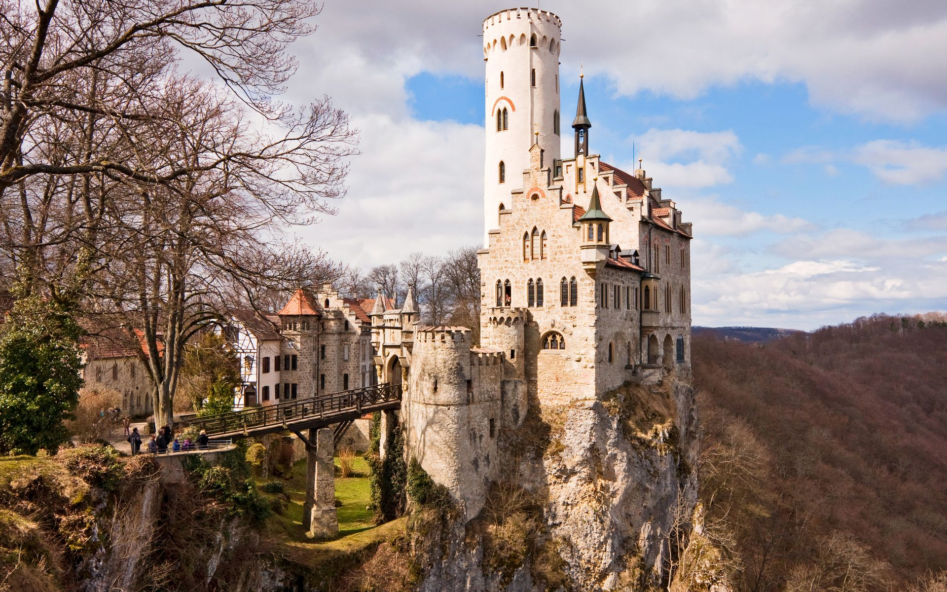 1920x1200 Germany, The Middle Ages, Castle, Lichtenstein ...