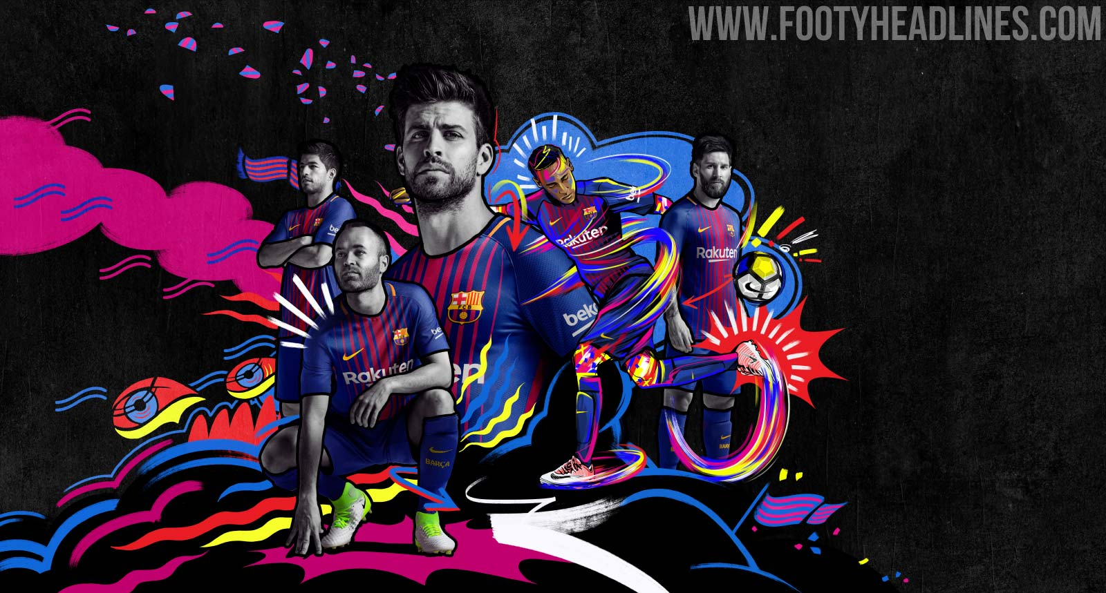 Barcelona 17-18 Home Kit Released - Footy Headlines