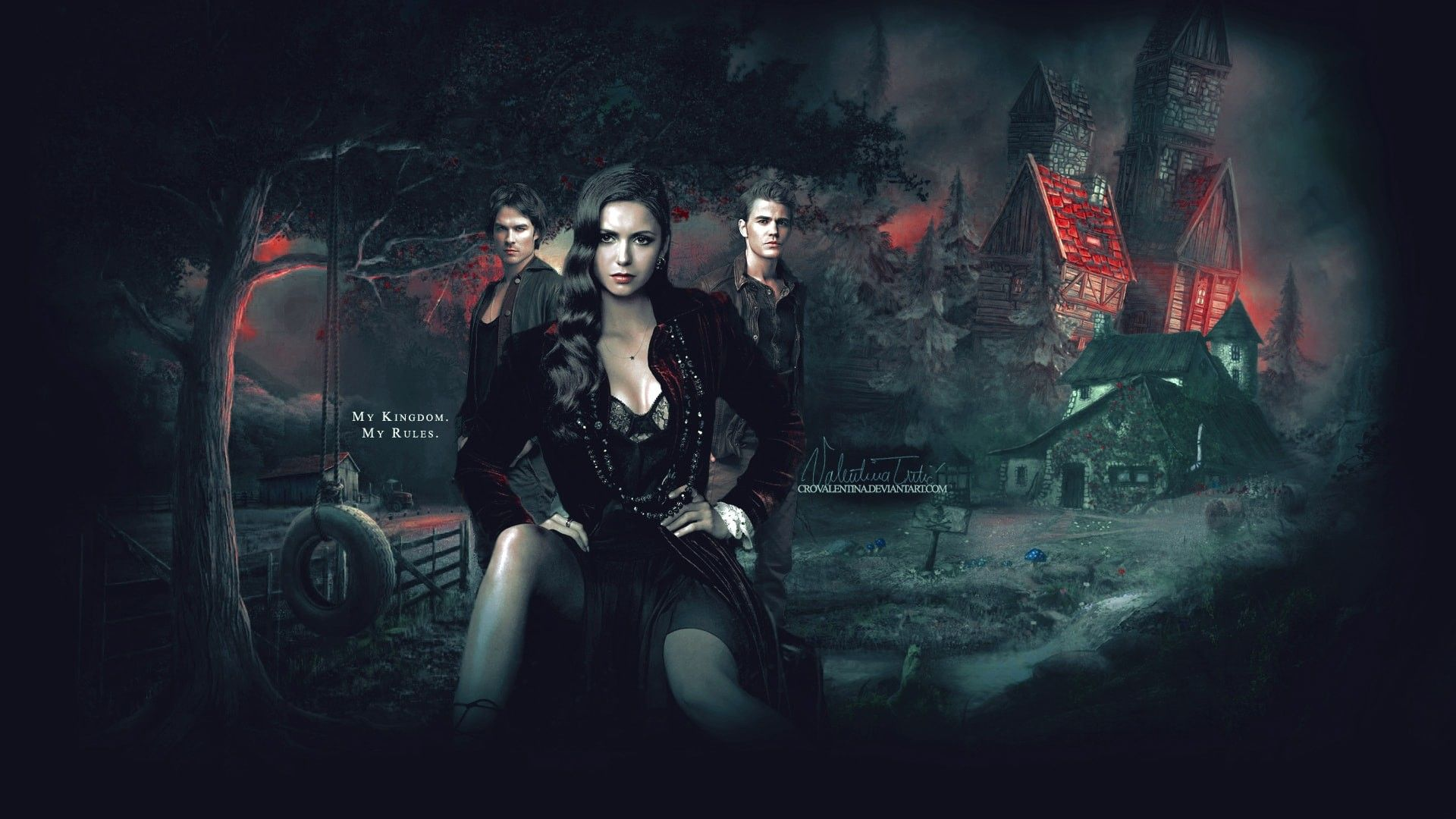Vampire Diaries Wallpaper Damon and Elena (76+ pictures)