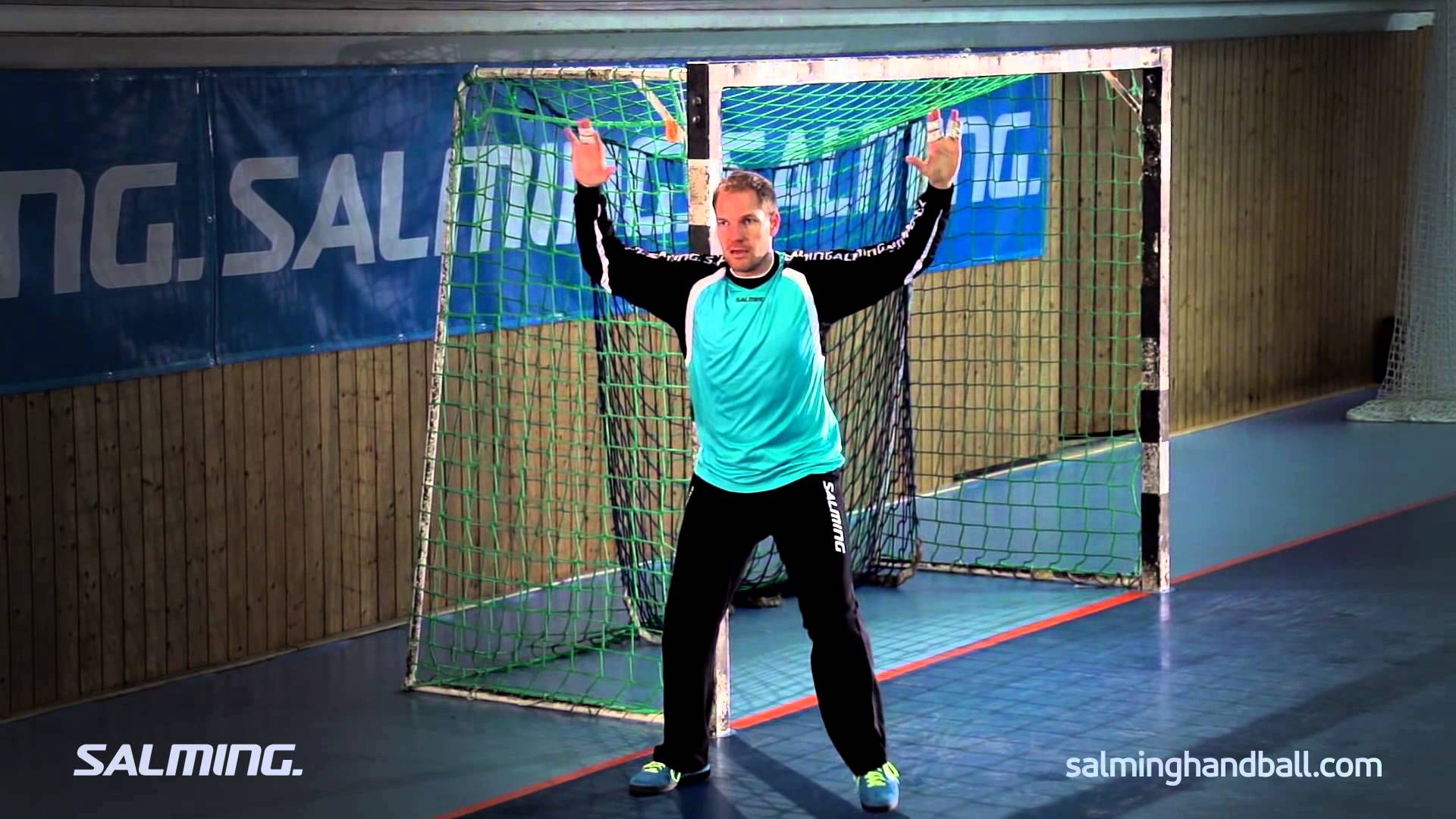 Salming Handball Academy - Goalie - Shots from the wing - YouTube