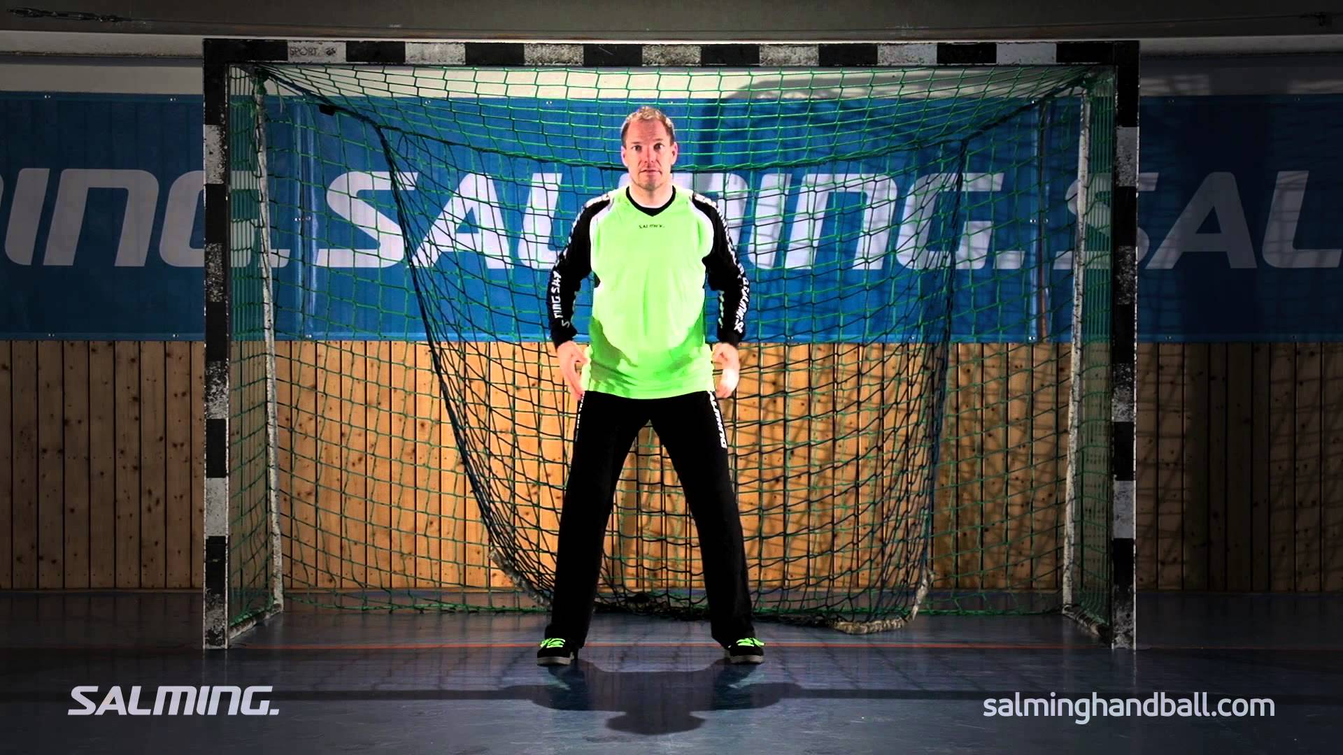 Salming Handball Academy - Goalie - Starting position - YouTube