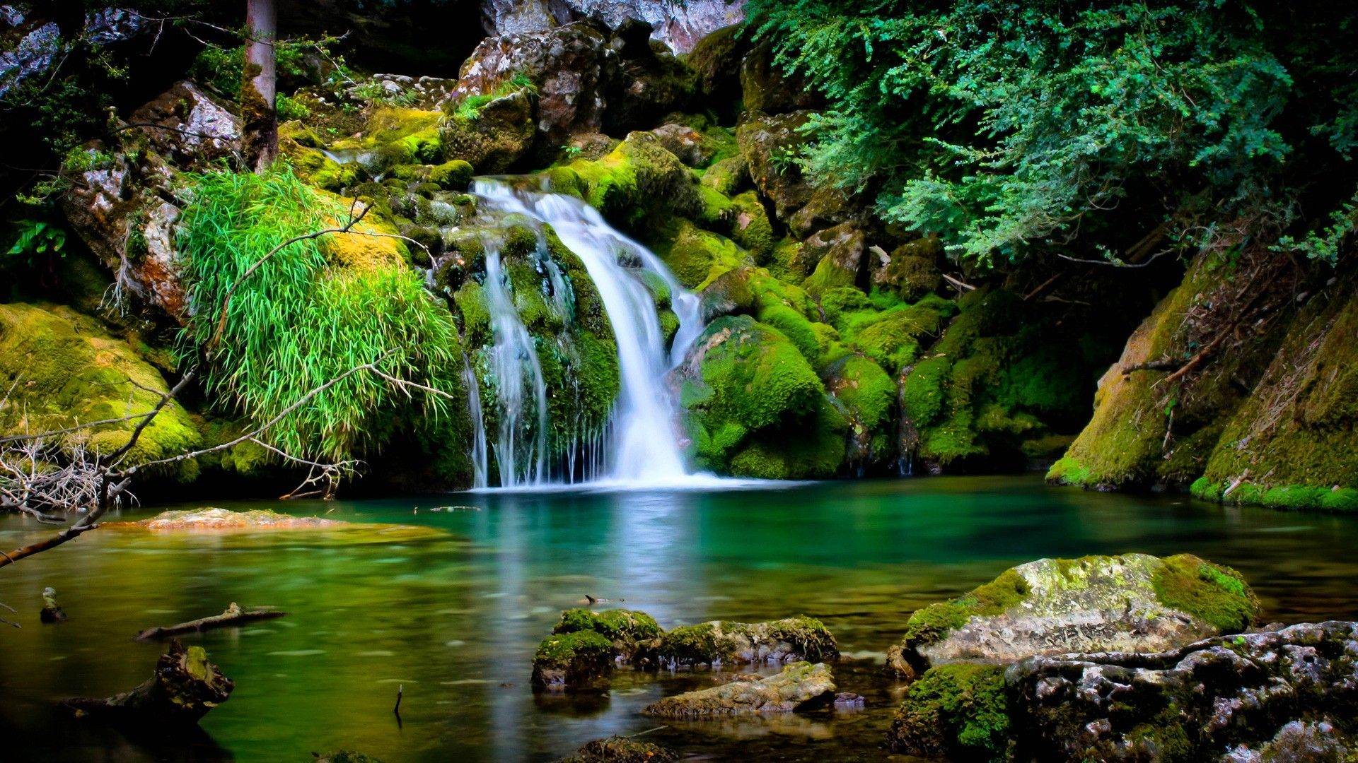 Eden Tag wallpapers: Green Lanscape Eden Garden Wild Waterfall ...