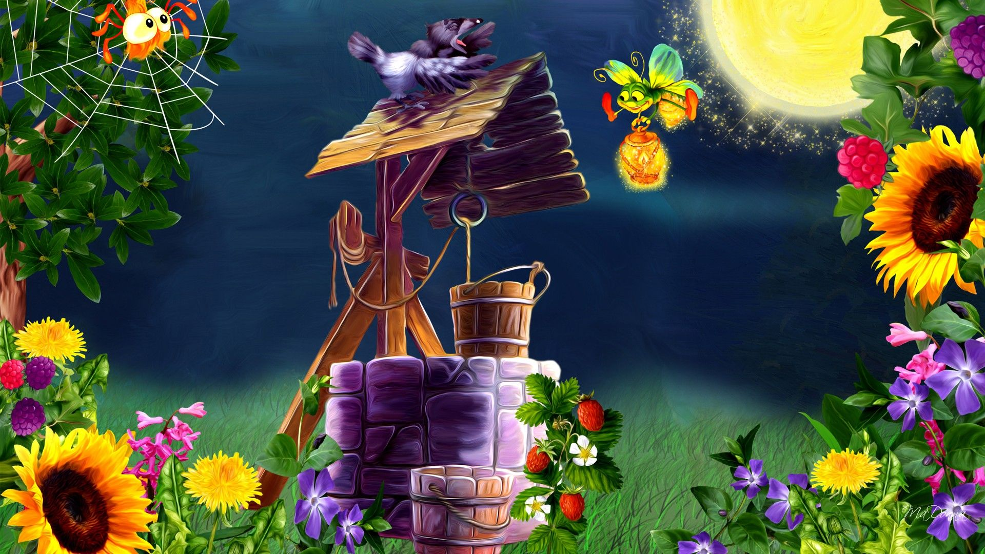Berries Garden Wallpaper | CARTOON