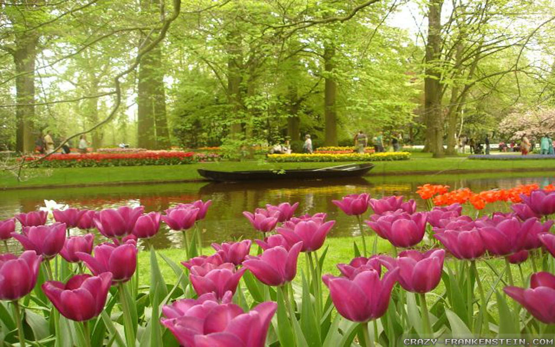 Flower garden wallpaper