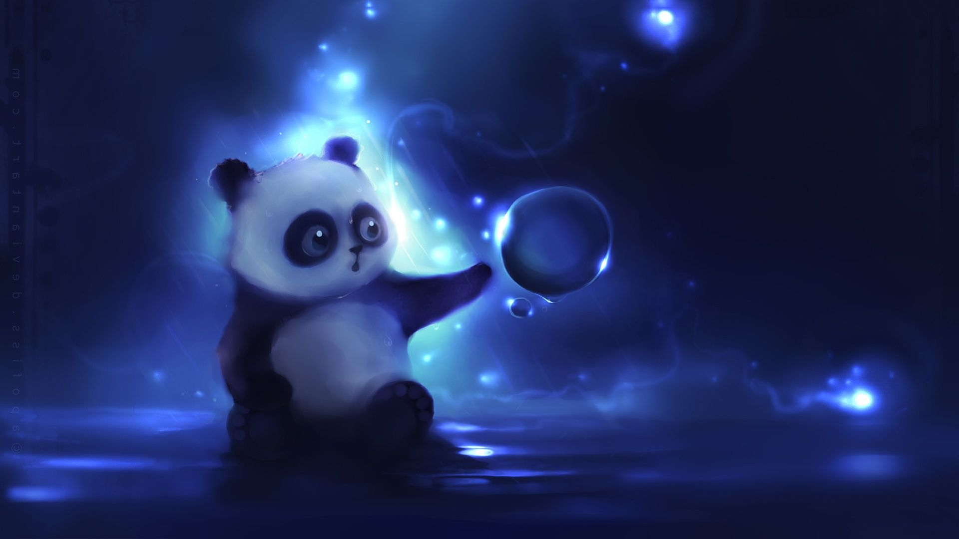 Anime Panda Background Wallpaper 07549 - Baltana