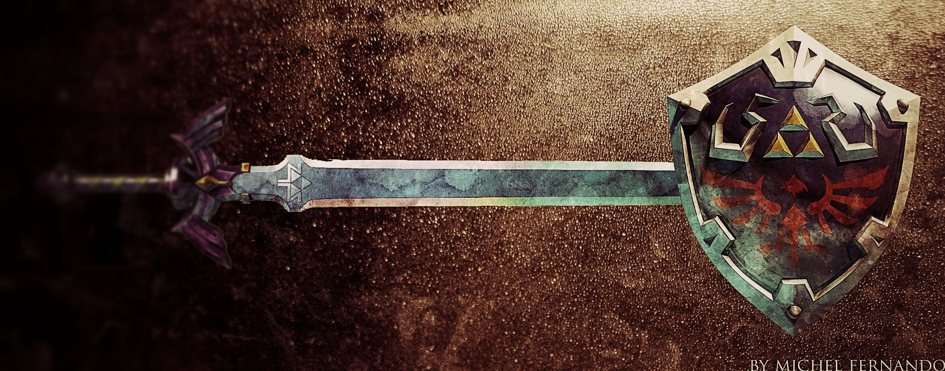 hylian shield and master sword (Banner) by MichelRT on DeviantArt