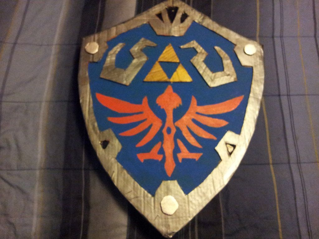 The Completed Hylian Shield by WolfmanHanan on DeviantArt