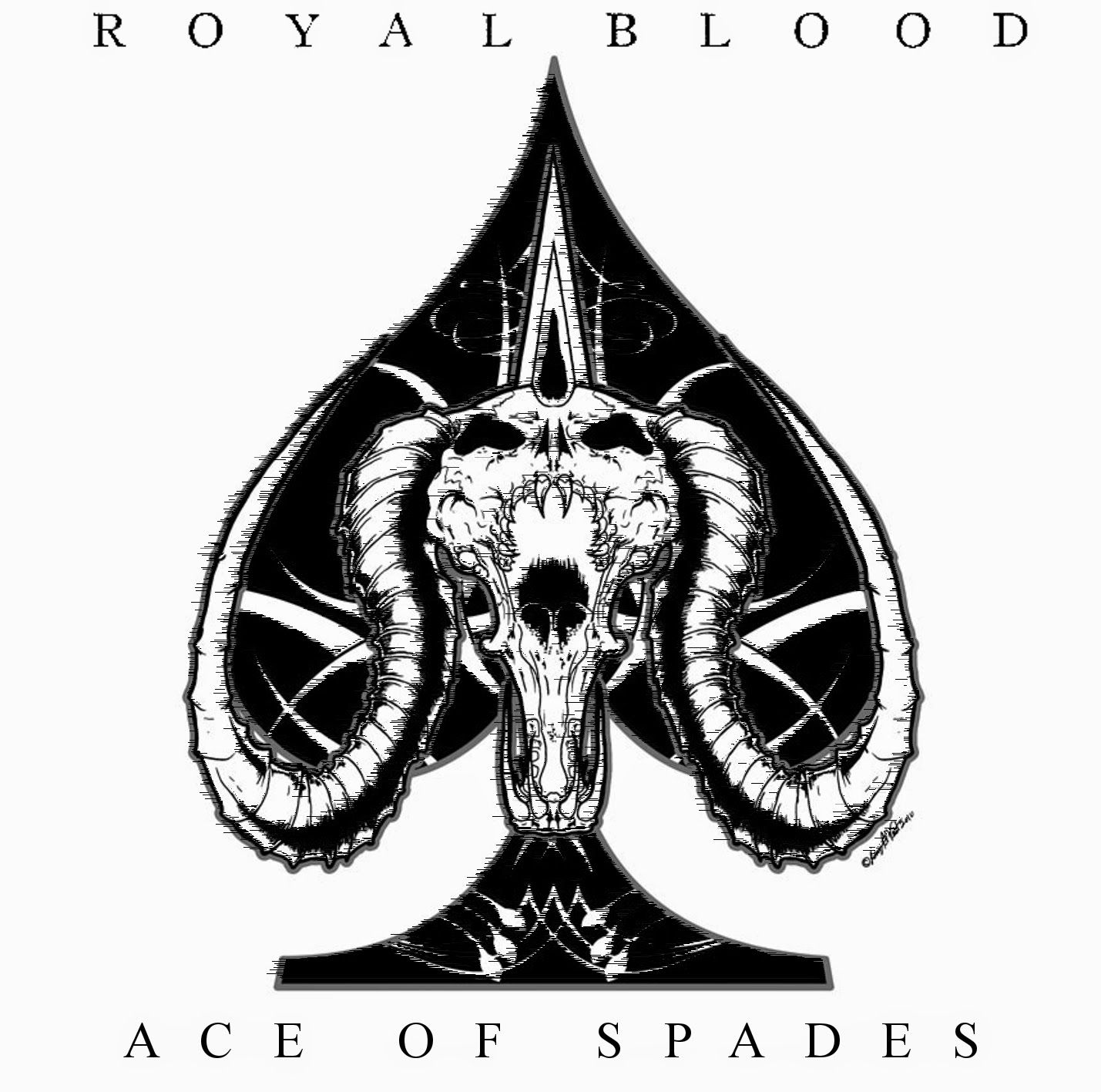 Image result for royal blood album cover ace of spades | Shirts ...