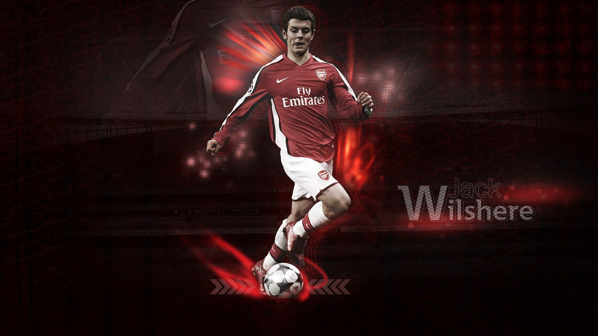 Jack Wilshere And Arsenal Logo Wallpaper Best | Free Download ...