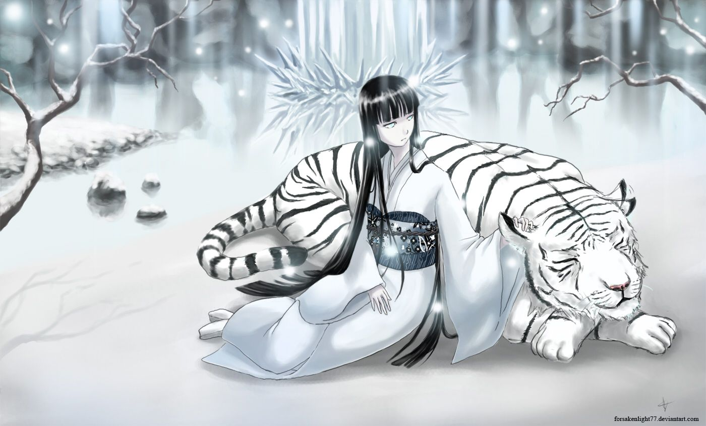 The Snow Lady And The Tiger Wallpaper and Background | 1400x846 ...
