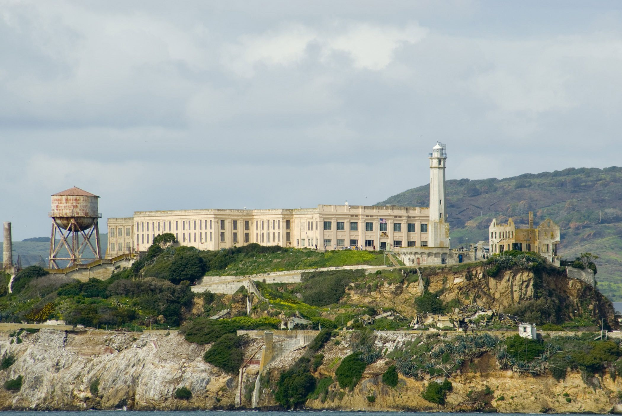 Free Stock photo of Fortified prison on Alcatraz Island ...