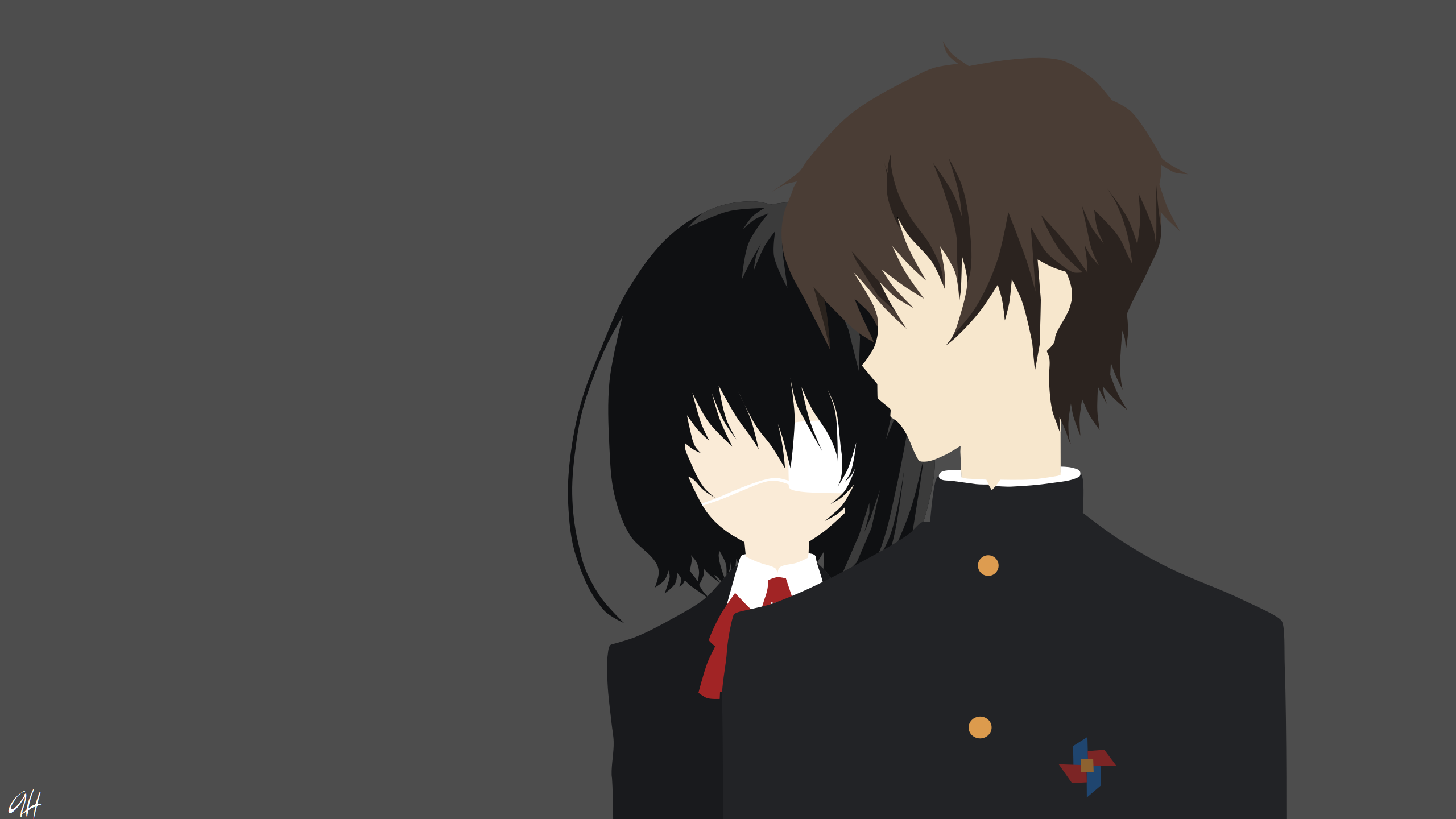 Misaki Mei and Kouichi Sakakibara Another Full HD Wallpaper and ...