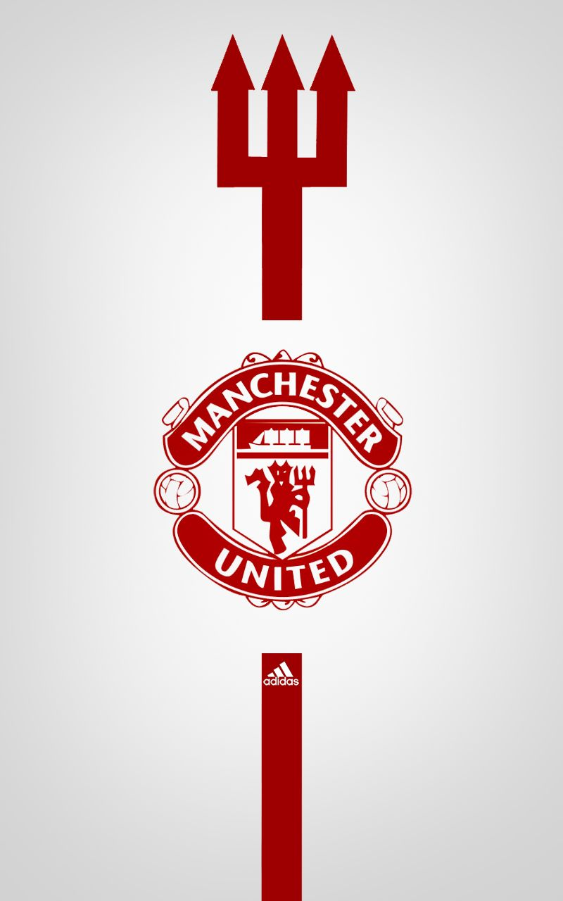 Manchester United Adidas Android wallpaper white | Manchester ...