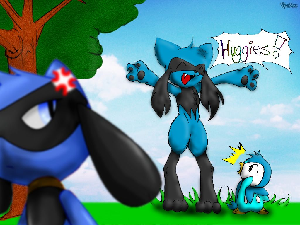 Jealousy - Riolu and piplup by Rockte on DeviantArt