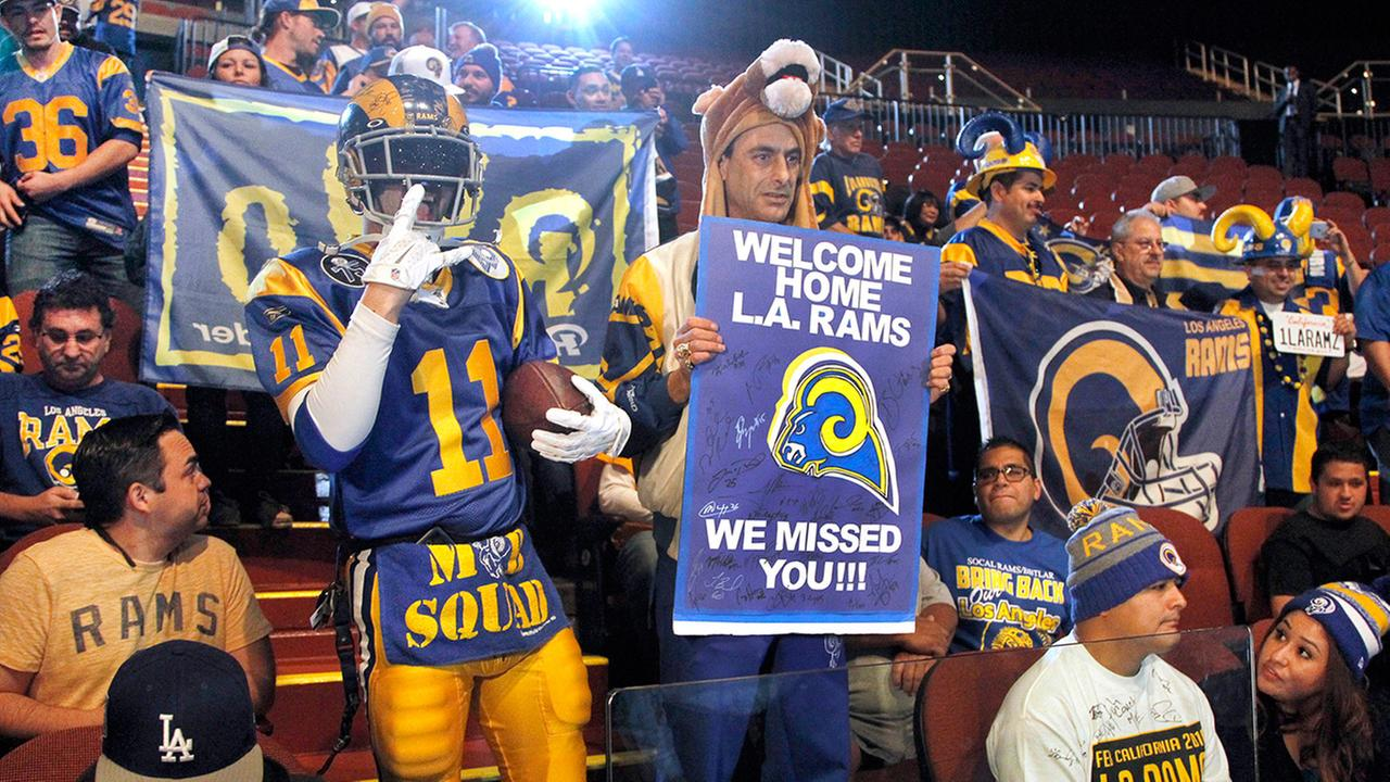 Los Angeles Rams collect 45,000 season ticket deposits in 2 days ...