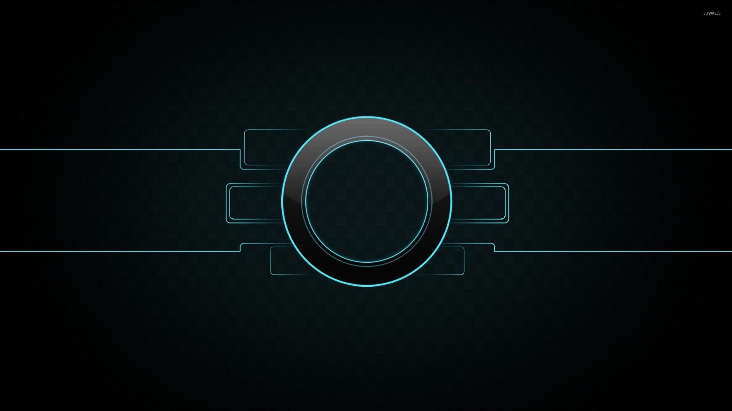 Neon outlined circle wallpaper - Abstract wallpapers - #23147