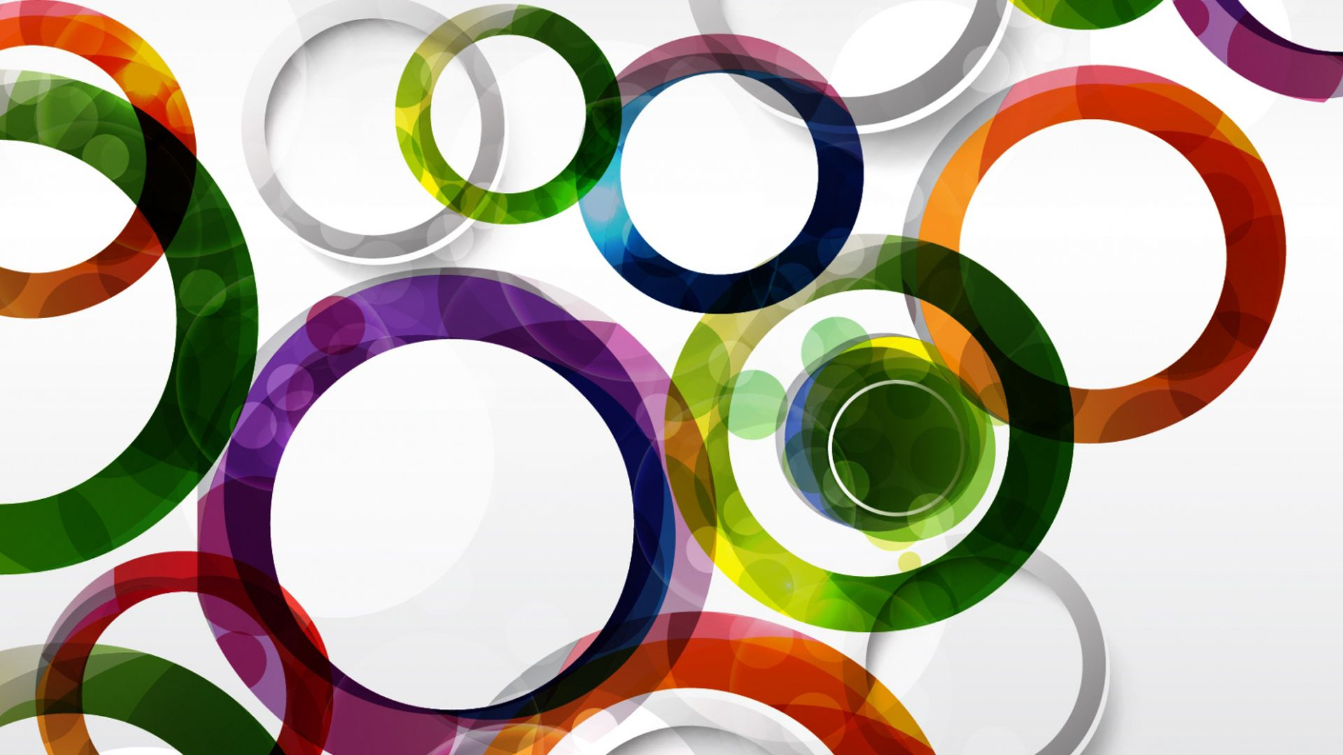 Abstract Circles Multicolor Ink Rings Shapes Vector Art Vectors ...