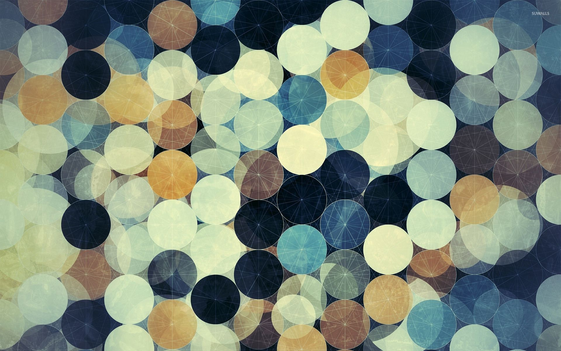 White lines on the circles wallpaper - Abstract wallpapers - #53055