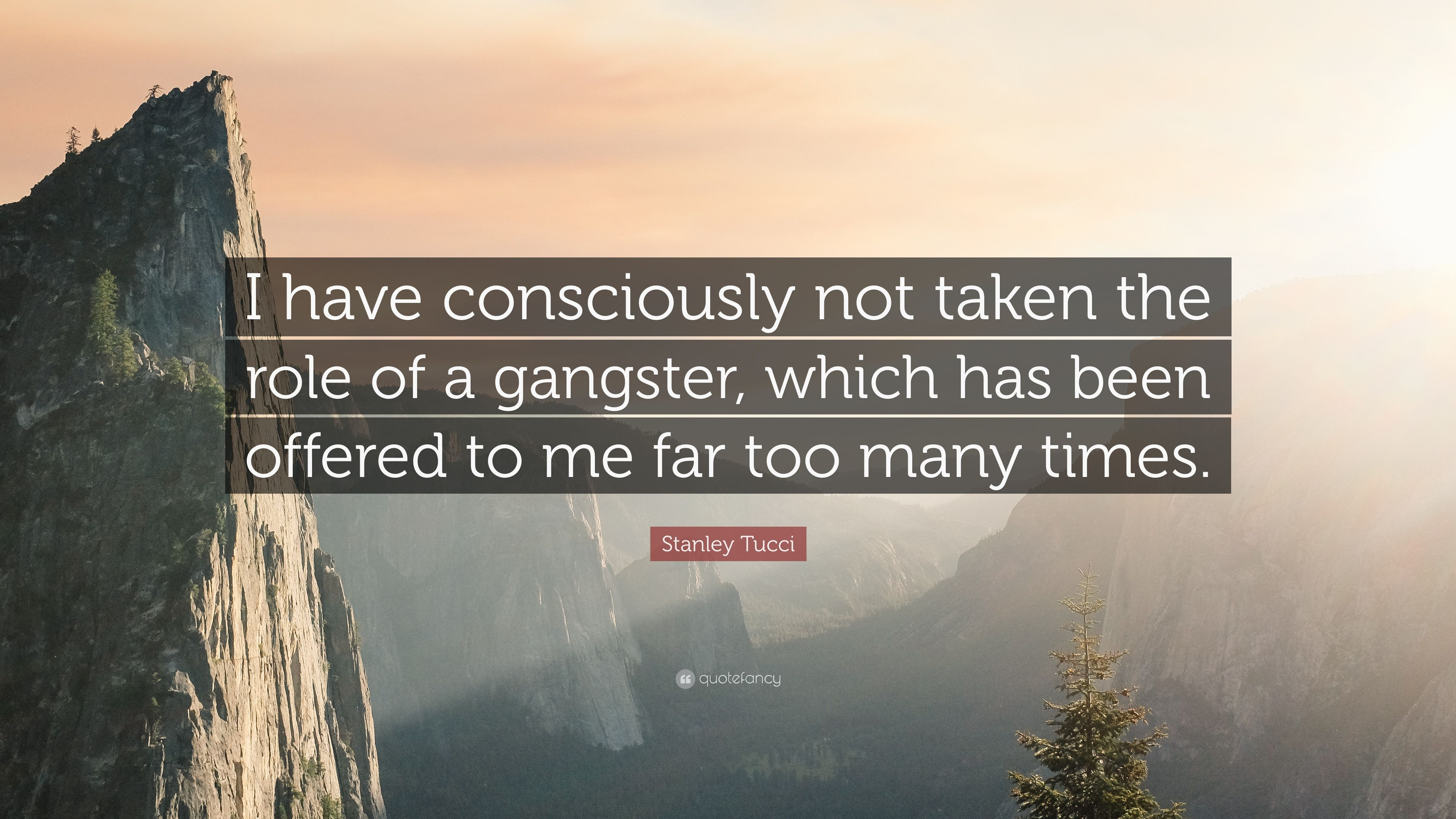 "Stanley Tucci Quote: ""I have consciously not taken the role of a ..."