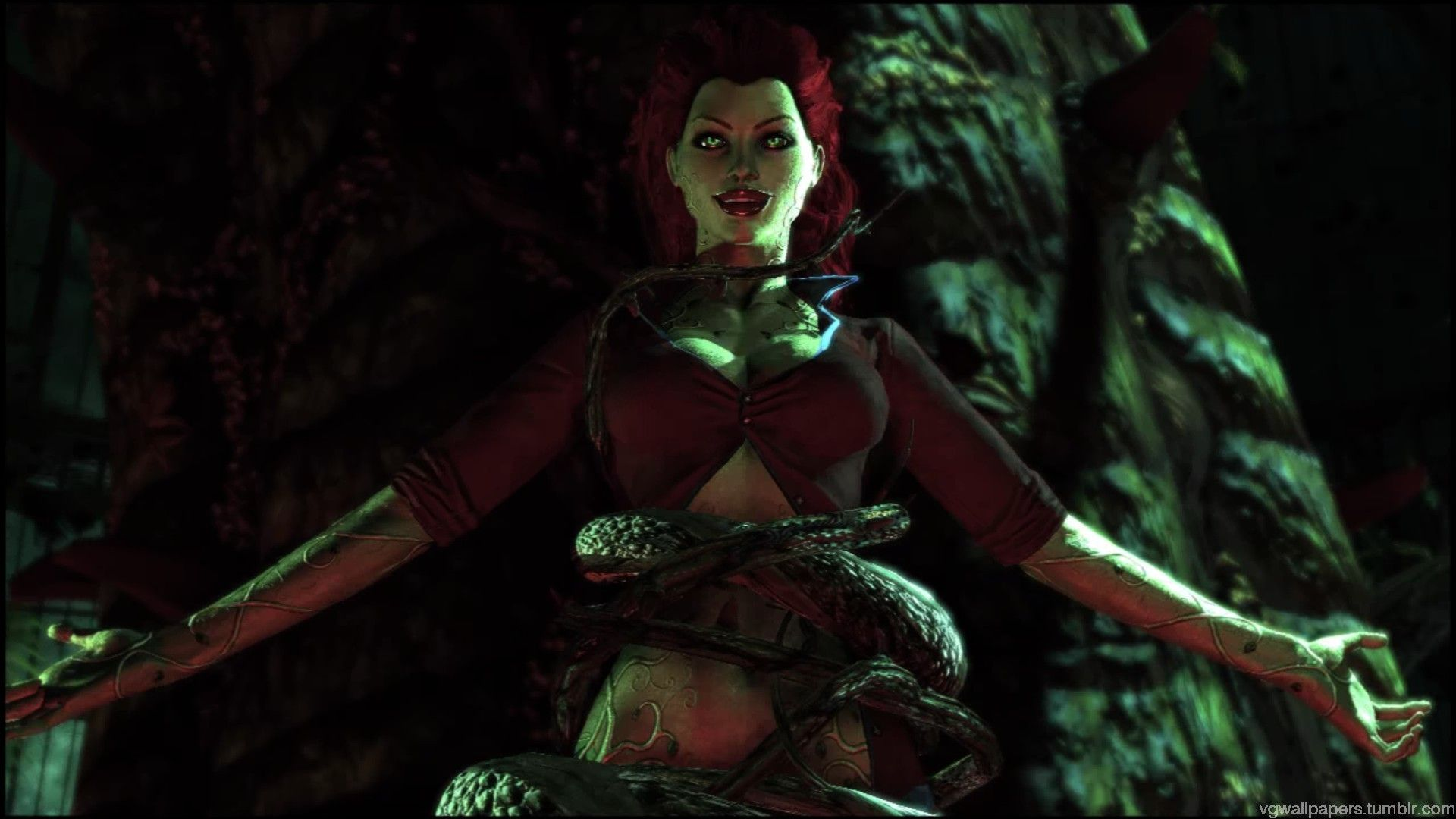 Video Game Wallpapers, Poison Ivy - a screenshot from The Batman ...