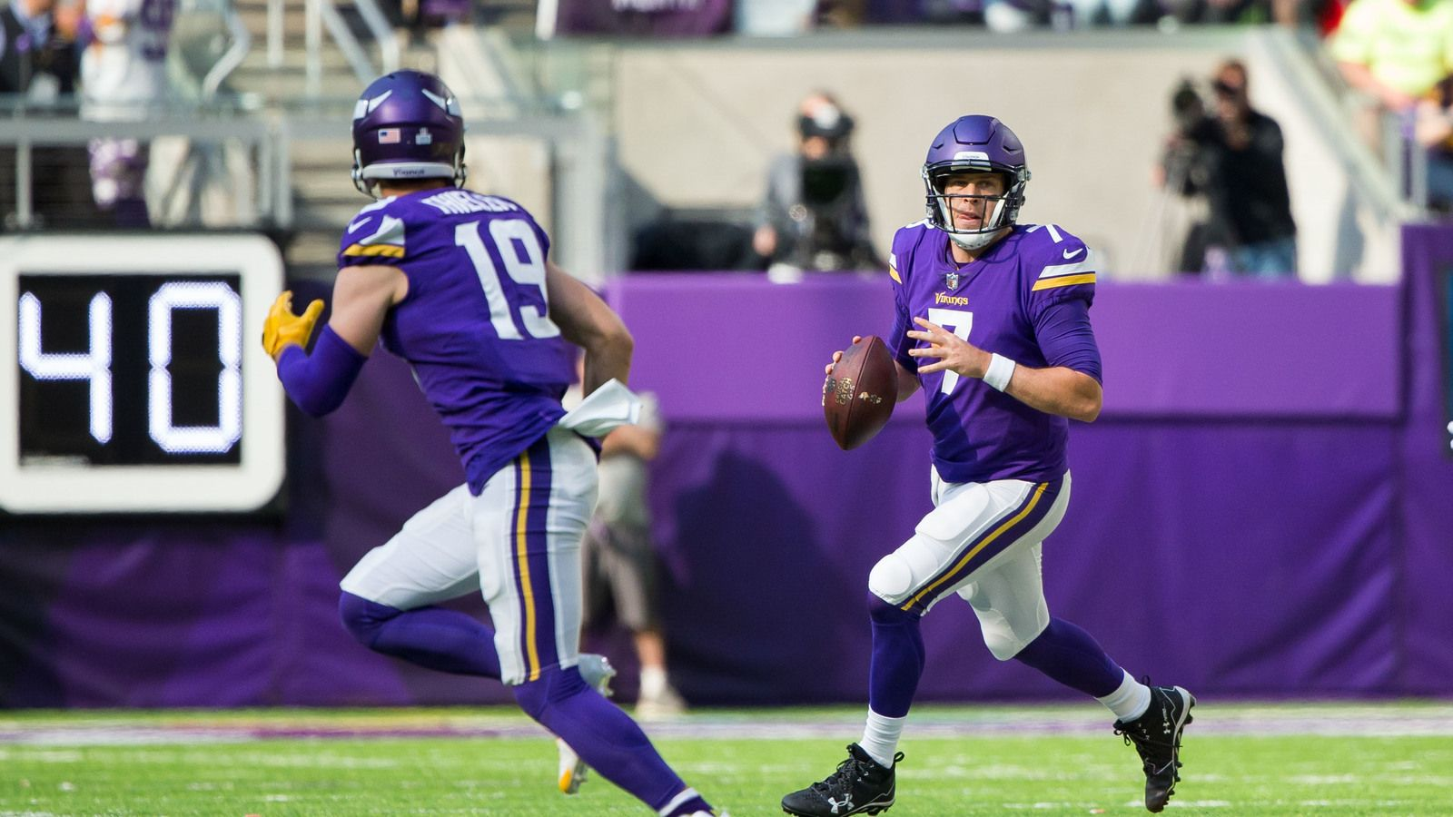 Case Keenum and Adam Thielen making history for Vikings ...