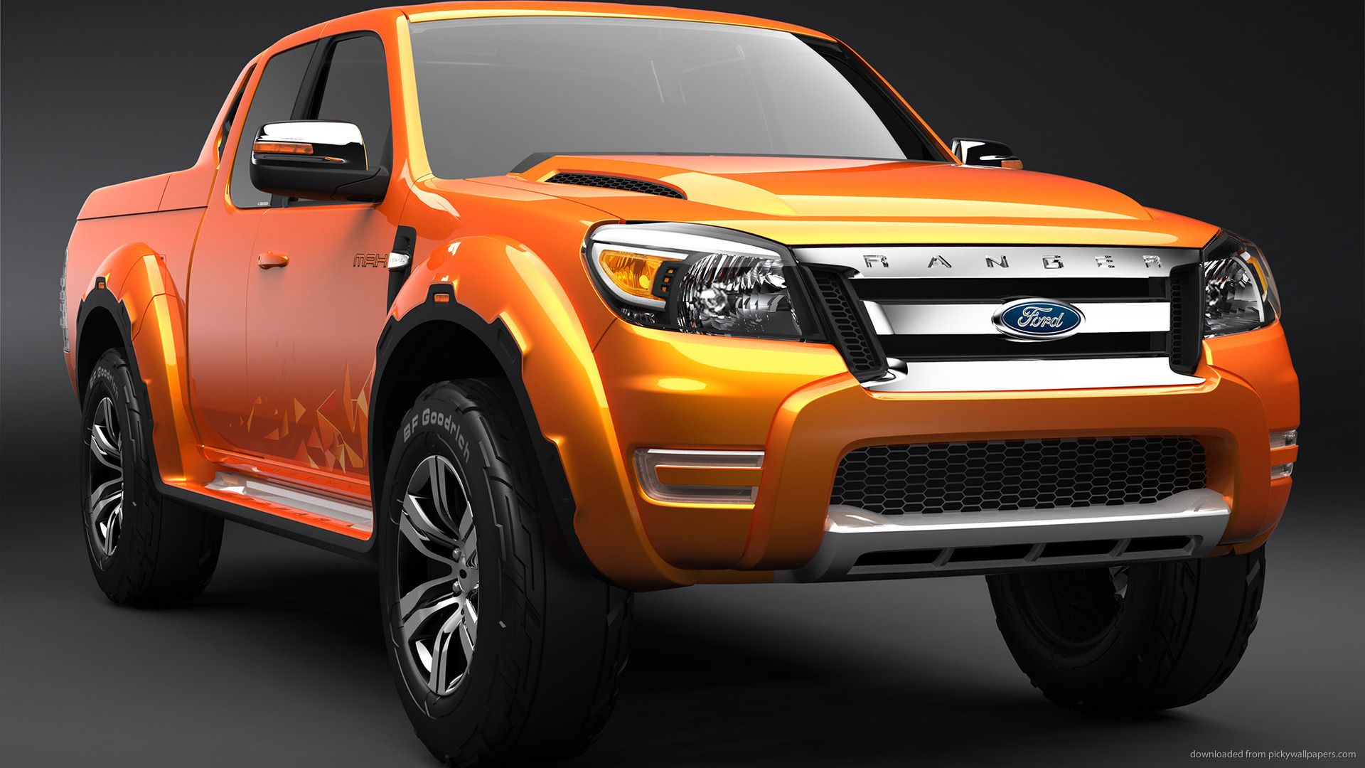 Orange Ford Ranger Concept Wallpaper For HTC Thunderbolt