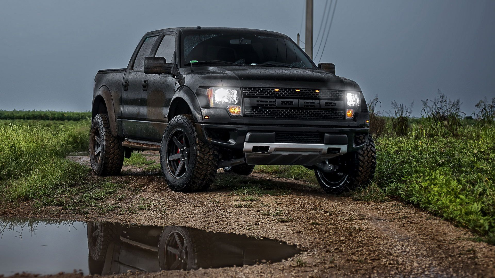 Black Ford Raptor 3 Widescreen Wallpaper - Hdblackwallpaper.com