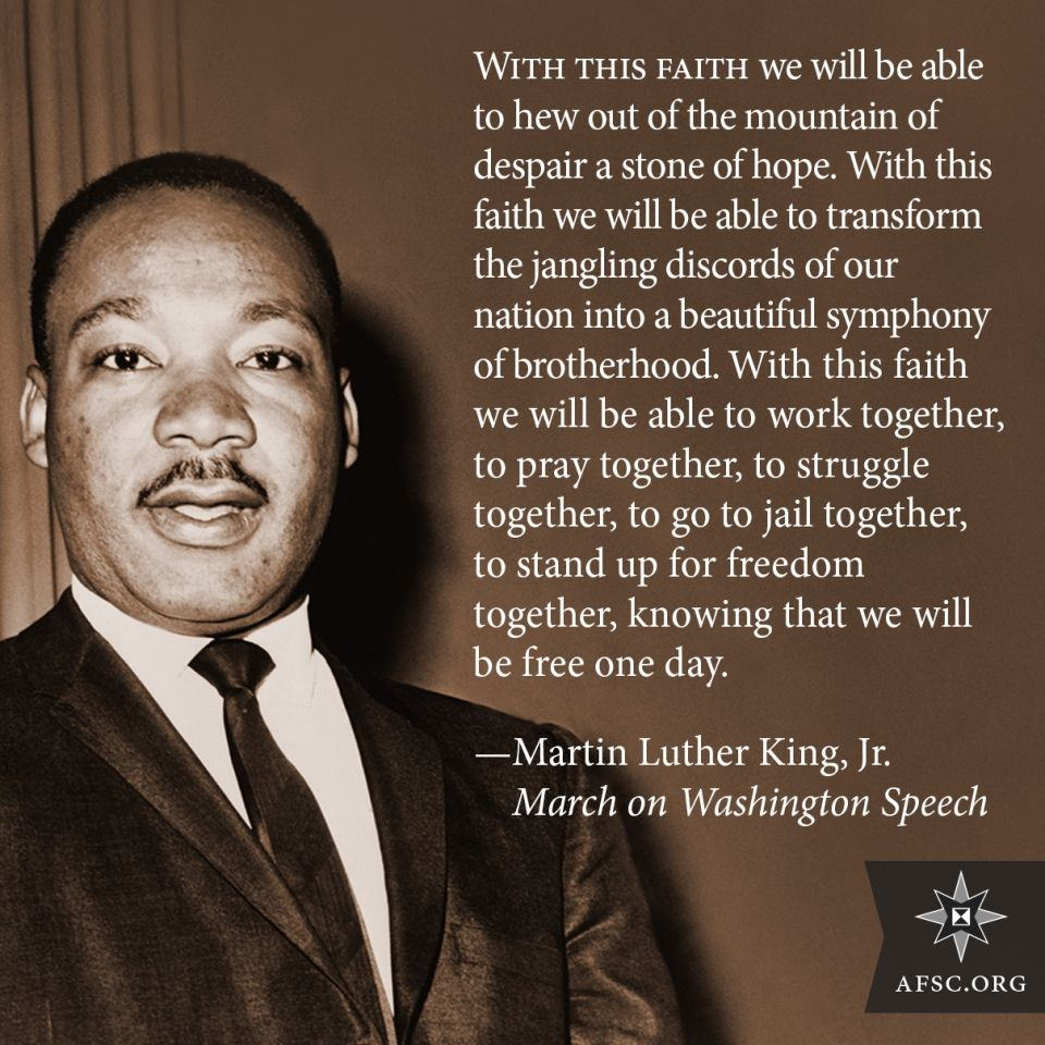 Rev. Martin Luther King Jr. social media images | American Friends ...